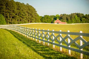 Gorgeous Fence Along Kentucky Horse Farm